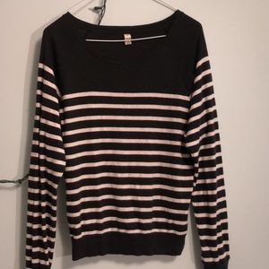 TNA striped long sleeve shirt
